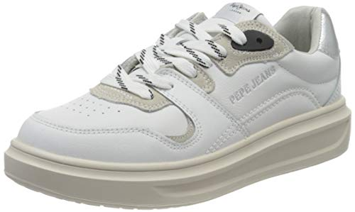 Pepe Jeans London Damen Abbey Skate Sneaker, 800WHITE, 40 EU