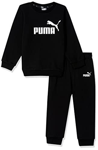 PUMA Minicats ESS Crew Jogger FL, Cotton Black, 104