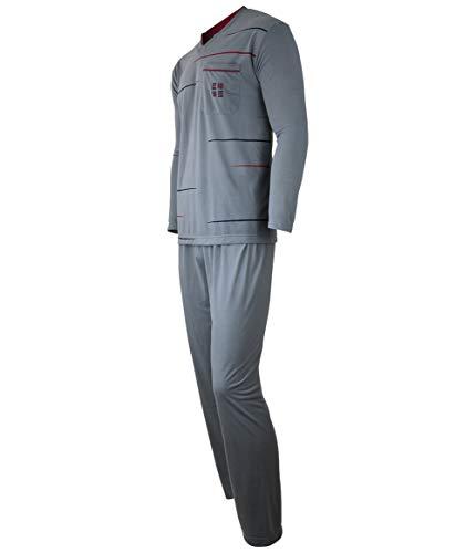 Soltice Herren Zweiteiliger Schlafanzug, Lange Pyjama im Set, Gestreifte Nachtwäsche...