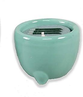 火を使わず安全な電子線香 仏具 LED電子線香 サンやすらぎ 寝かせ線香タイプ 玉香炉 2.5寸 浄土真宗用