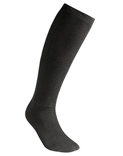 Woolpower Liner Socks Knee-High - Leichte Merinosocken- Gr. 45/48, Schwarz