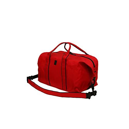 Borsone da viaggio Cargo Duffel Bag 22L / 40L per uomo e donna   Borsa a tracolla per viaggi, aerei, bagaglio a mano   pratica robusta borsa da viaggio impermeabile, Colore: rosso, 40 l,