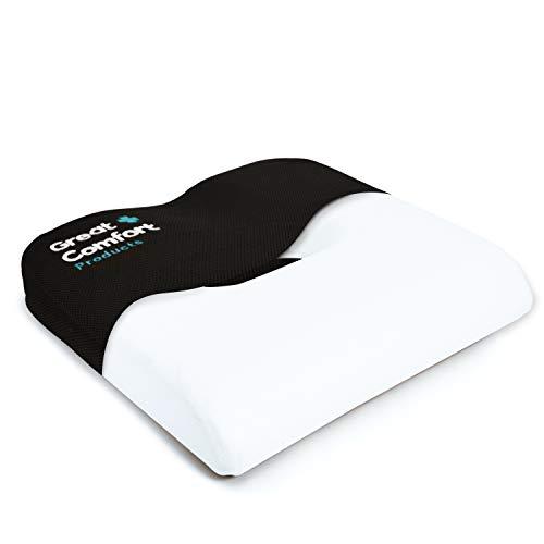 Hemorrhoid Cushion Donut Pillow Memory Foam Luxury Seat Doughnut for Hemroid Prostate Bed Sores Coccyx Postpartum Pregnancy Perineal Sciatica Tailbone Hemmoroid Pain Pressure Relief