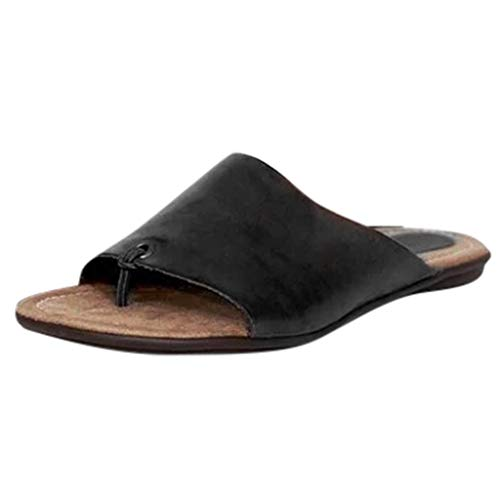 Buy Bargain Hemlock Women Flip Flops Flat Heels Slippers Open Toe Sandals Slip On Beach Shoes Summer Slides Outdoor Slippers Black