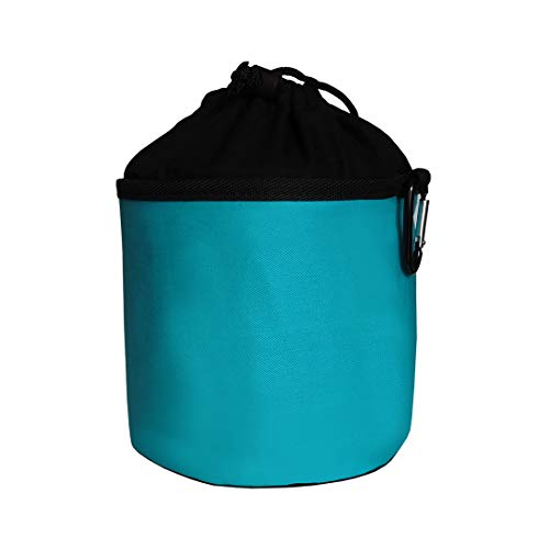 trendfinding Sacchetto Porta-mollette per bucato in Cotone - da Appendere - con moschettone - Turchese