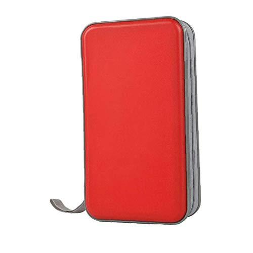 Nicedier Bolsa CD CD Titular Caja De La Carpeta Carpeta DVD DVD Organizador del Almacenaje De Plástico Duro 80 Capacidad Portátil Accesorios De Cocina Rojo