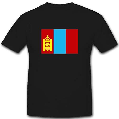 Mongolei Flagge Fahne Wappen Abzeichen Symbol - T Shirt #2434, Größe:5XL, Farbe:Schwarz