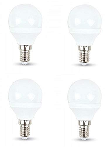 v-tac - Confezione di 4 lampadine LED 3 W P45 palla da golf - E14/SES Small Edison Screw Cap - bianco caldo 2700 K/250 lumen