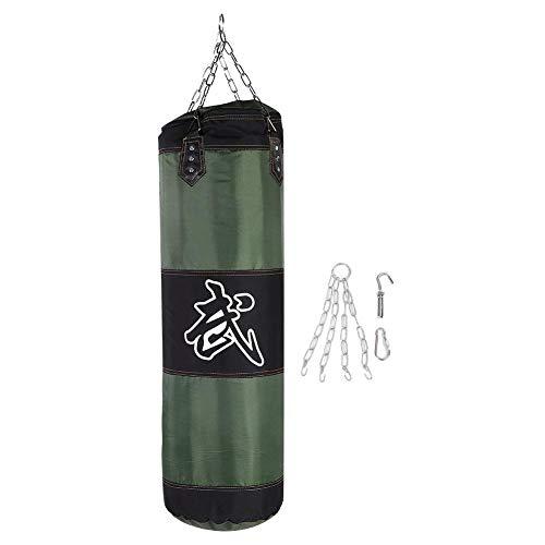 Dilwe Punch Sandsack, Strapazierfähiger Boxsack aus Schwerer Canvas Tasche für Trainingsübungen Fitness und Sport(1m-Grün)