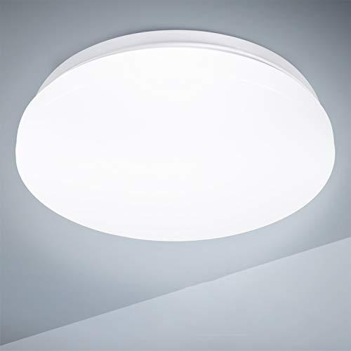 Plafon led de techo,lamparas de techo habitacion,TECKIN 18W Moderna LED Plafón para Baño Dormitorio Cocina Balcón Pasillo Sala de Estar Comedor 1500LM,4500K, Ø28cm, IP44