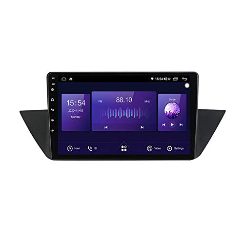 TypeBuilt Autoradio GPS Navigazione Music 9' 1080P HD Touch Multimedia per BMW X1 E84 2009-2015,Stereo Auto Bluetooth Chiamate in Vivavoce Radio con Lettore USB FM AM RDS Stereo,7731 1g+16g