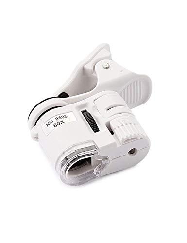 ZTHUAYUAN Lupa de artesanía Creativa Lupa de Lectura 60X HD, Mini Lupa portátil de joyería HD con luz LED y luz UV, Utilizada con teléfono móvil Lupa para Leer
