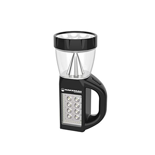 3 in 1 LED Lantern, Flashlight and Panel Light, Lightweight Camping Lantern by Wakeman Outdoors (for Camping Hiking Reading and Emergency) (Black)
