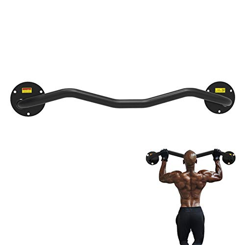 Sfeexun Wall Mounted Pull Up Bar Bracket, Pullup Chin Up Bar Frame for Home Gym Strength Training, Max Load 660lbs (Mounted on The Door)
