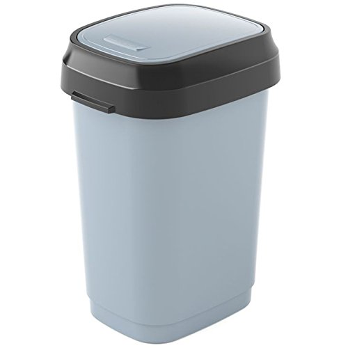 Read About Kis Dual Swing Waste Container, Grey/Anthracite, 10 Litre