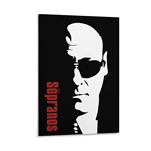Tony Soprano Sunglasses Wall Art Poster , Artwork, Posters for Wall, Game Room Poster, Canvas Art, No Frame Poster, Original Art Poster Gift Canvas Poster Bedroom Decor Sports Landscape Office Room De