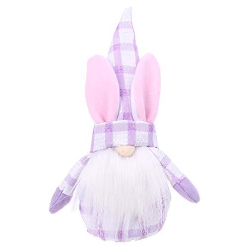 (1 unidad) Gnomo de Pascua con diseño de conejito de peluche sin rostro, enano sueco Tomte Elf