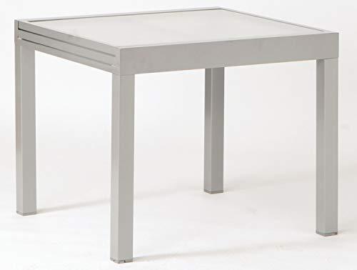 Nicht Zutreffend Gartentisch - Grau - 90 x 90 cm - ausziehbar