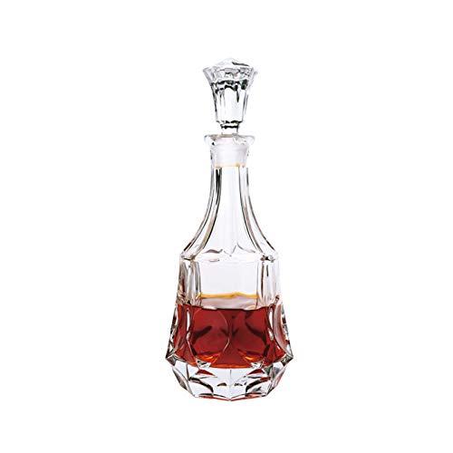 Yuansr Dispensador con un tapón geométrico Cerrado, un dispensador de Whisky para Vino, Bourbon, Brandy, Licor, Jugo, Agua, Enjuague bucal (Size : Style 7)
