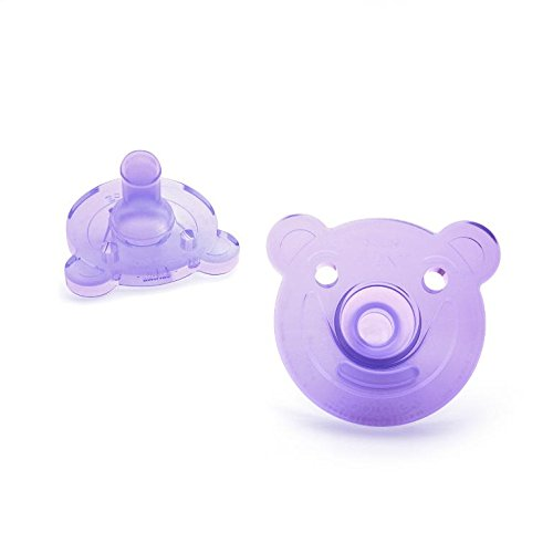 PhilipsAVENTBearShapePacifier,0-3ヶ月,2Count(ピンク&パープル)海外直送品