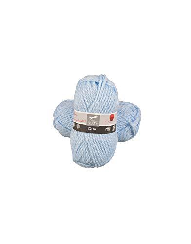 Laines Cheval Blanc - DUO pelote de laine 100% acrylique 50g - Grosse laine hiver pour tricot et crochet