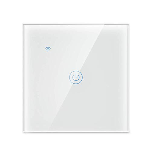 Yagusmart Smart Wall Light Switch,Compatible with Alexa and Google Home,APP Remote Control,Timing Function,Voice Control (1 Gang)