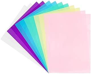 JAM PAPER Fundas A4 Documentos de Plástico Cortadas - 220 x 325,4 mm - Surtido de Colores - Paquete de 12