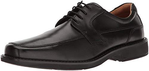 ECCO Men's Seattle Apron Toe Tie Oxford, Black/Black, 44 EU/10-10.5 M US