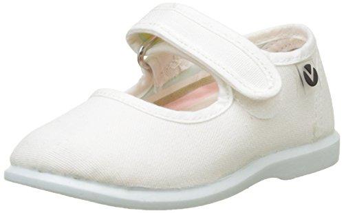 Victoria Mercedes Velcro Lona, Zapatillas Unisex niños, Blanco, 19 EU