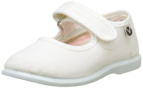 Victoria Mercedes Velcro Lona, Zapatillas Unisex Niños, Blanco, 24 EU
