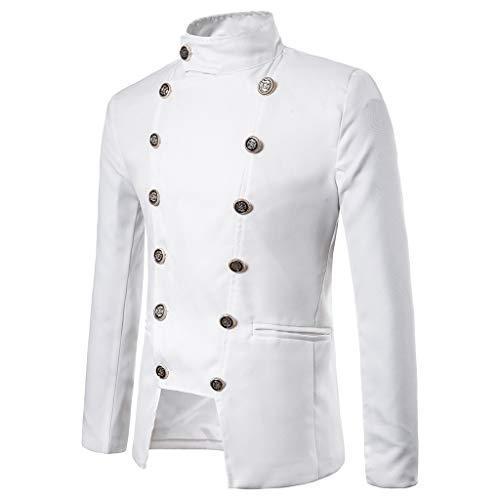Hommes Manteau Tailcoat Jacket Gothique Redingote Manteau Uniforme Costume fête pour Hommes Steampunk Vintage Queue de Pie Veste Velours Gothique Victorien Redingote Manteau