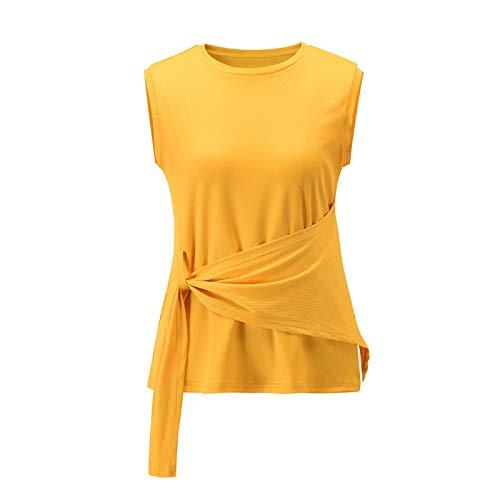 Moda para Mujer, Todo fósforo, Cuello Redondo, Blusa Informal, Camiseta, Simple, clásico, Color sólido,...