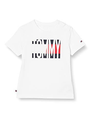 Tommy Hilfiger Baby Flag tee S/s Camiseta sin Mangas para bebés y niños pequeños, White, 86