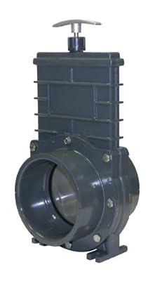 Valterra 8401X PVC Gate Valve, 110 mm Slip w/ Gate Keeper, PVC from Valterra Products