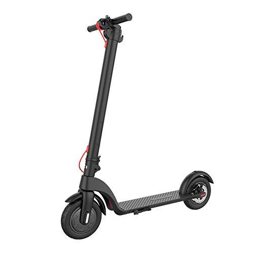 Mini Electrico Patinete 8.5 Pulgadas Impermeable y Ligero Bicicleta City Scooter Plegable para Niños y Adultos,Negro