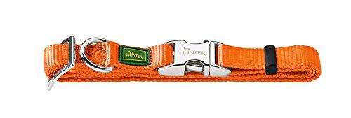 HUNTER VARIO BASIC ALU-STRONG Halsung, Hundehalsband, Nylon, Aluminium Steckverschluss, L, orange
