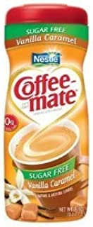 Coffee-mate, Vanilla Caramel, Sugar Free Powder Creamer, 10.2oz (Pack of 4)