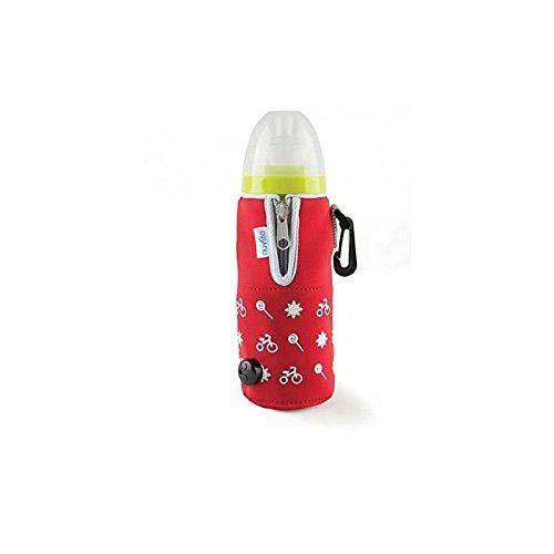 Nuvita 1074 Chauffe-biberon portable avec chargeur de voiture démontable, unisexe, rouge