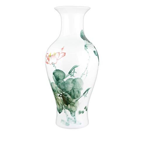 Vases Ceramique Céramique Vase Décoration Peint À La Main Pastel Maison Salon Fleur Art Table Ornement Vase décoratif Verre (Color : Fish Tail, Size : Large)