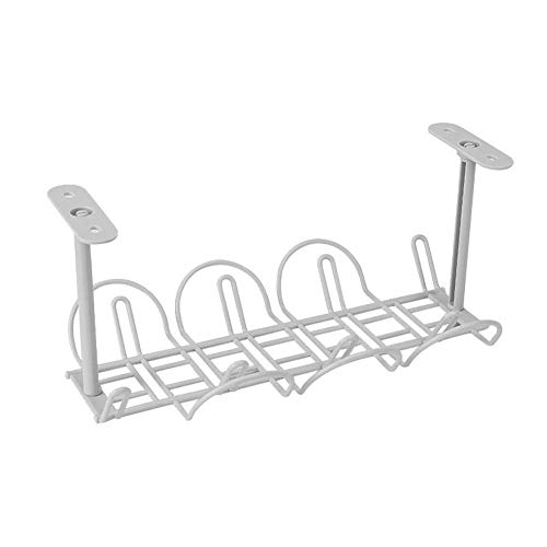 eamqrkt unter Tisch Kabelmanagement Tablett Organizer für Stahlcord Ladegerät Stecker - grau, 1