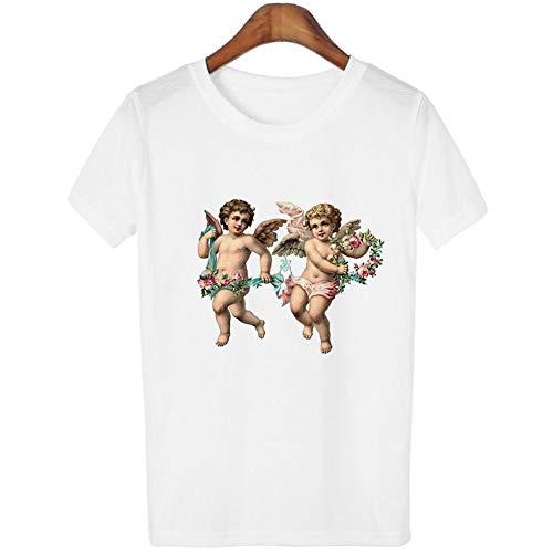 ZHOUBIANREN T-Shirt Michelangelo Schilderij Kleding Genesis Grafische Tshirt Esthetisch T-Shirt Koreaanse Stijl Mode Tops O-hals Korte mouw Witte Tees