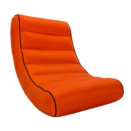 Withou, poltrona a sacco gonfiabile per esterni, semplice e portatile, 200 kg di carico, sedia da salotto per piscina all'aperto, con custodia, spessa, morbida e antiscivolo (colore arancione)