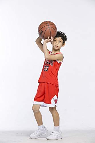 Maillots de Baloncesto para Niños - Conjunto NBA Bulls Jordan#23 / Lakers James#23 / Warriors Curry#30 Camiseta de Baloncesto Chaleco & Pantalones Cortos de Verano para Chicos y Chicas