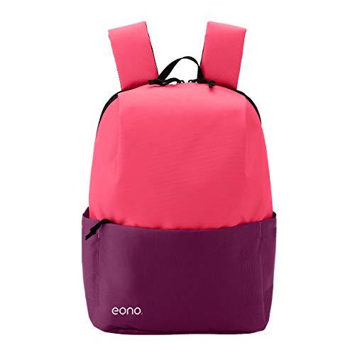 Eono Essentials - Mochila Ultraligera Resistente al Agua, Ideal para Viajes y Actividades al Aire Libre, para Hombre, Mujer y niño (10 L) (Rosa)