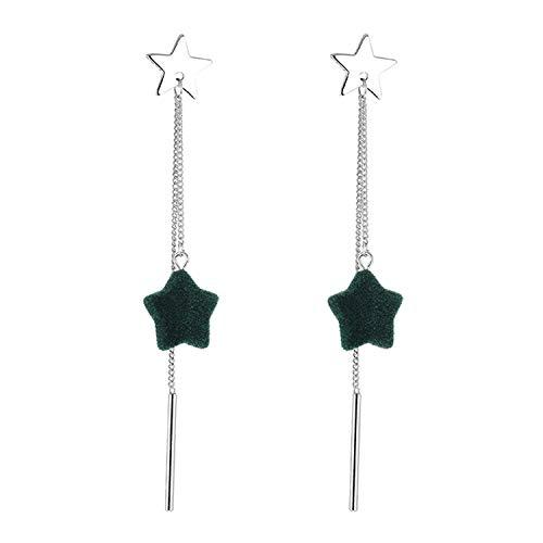 Thumby Reinig de Stick Ster Hanger Oor Studs Reguliere Eenvoudige, Lange Sovjet Meisje Oorbellen