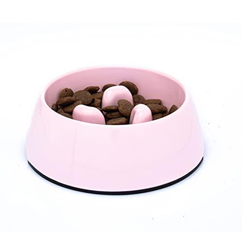 DDOXX Fressnapf Antischlingnapf, rutschfest | viele Farben & Größen | für kleine & große Hunde | Futter-Napf Katze | Hunde-Napf Hund | Katzen-Napf | Melamin-Napf | Rosa Pink, 300 ml