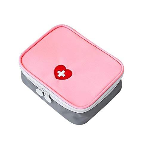 Greenwoodhomer - Kit de primeros auxilios para exteriores, bolsa de viaje, portátil, paquete de medicina, kit de emergencia, bolsa de almacenamiento de píldoras, organizador pequeño