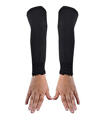 Egypt Bazar Elegante Armstulpen Hijab - Islamische Gebetskleidung (Schwarz)