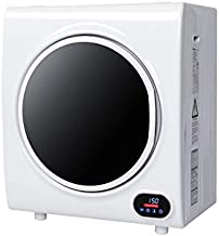9LBS Compact Clothes Dryer, 2.6 cu.ft High End Front Load Tumble Laundry Dryer, w/Stainless Steel Tub & LED Screen-1450W, White