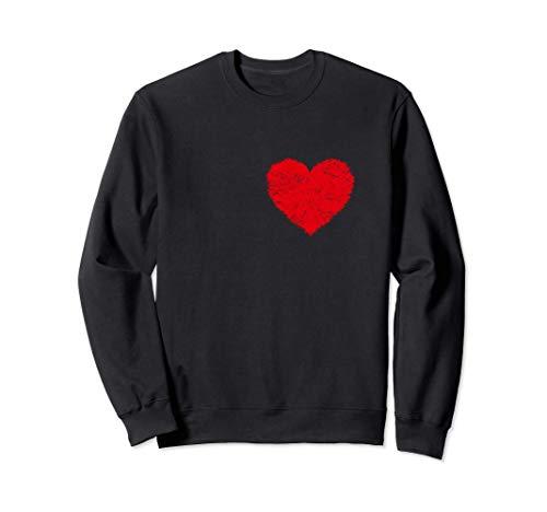 Camiseta de corazn de hombre Disfraz de Halloween Camisetas Sudadera